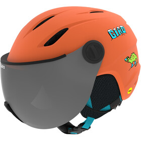 Giro Buzz MIPS Helm Kinderen, matte deep orange dinosnow